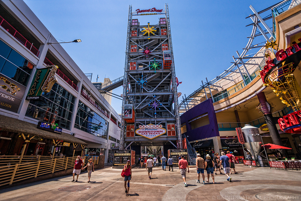 SlotZilla Zip Line Tower, Fremont Street Experience