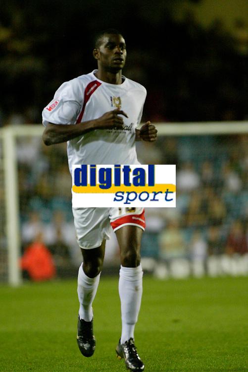 Photo: Marc Atkins.<br /> Milton Keynes Dons v Colchester United. Carling Cup. 22/08/2006.MK Don's goalscorer Izale McLeod.