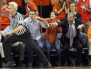 during the game against NC State Saturday in Charlottesville, VA. Virginia defeated NC State 58-55. Photo/Andrew Shurtleff
