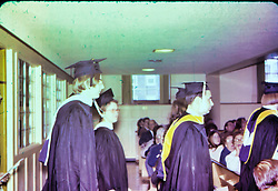 Sharon Guengerich college graduation 1974 - Elmhurst College<br /> <br /> Sharon Guengerich, 2nd from left<br /> <br />  Photos taken by George Look.  Image started as a color slide.