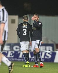 Falkirk's Lee Miller cele scoring their third goal. <br /> Falkirk 4 v 1 Fraserburgh, Scottish Cup third round, played 28/11/2015 at The Falkirk Stadium.