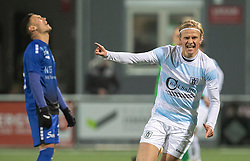 Carl Lange (FC Helsingør) jubler efter udligningen til 1-1 under kampen i 1. Division mellem HB Køge og FC Helsingør den 4. december 2020 på Capelli Sport Stadion i Køge (Foto: Claus Birch).