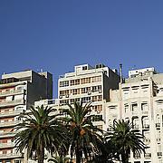 South America, Uruguay, Canelones, Montevideo, downtown, buildings bordering the Plaza de la Independencia, Independence, Avenida 18 de Julio