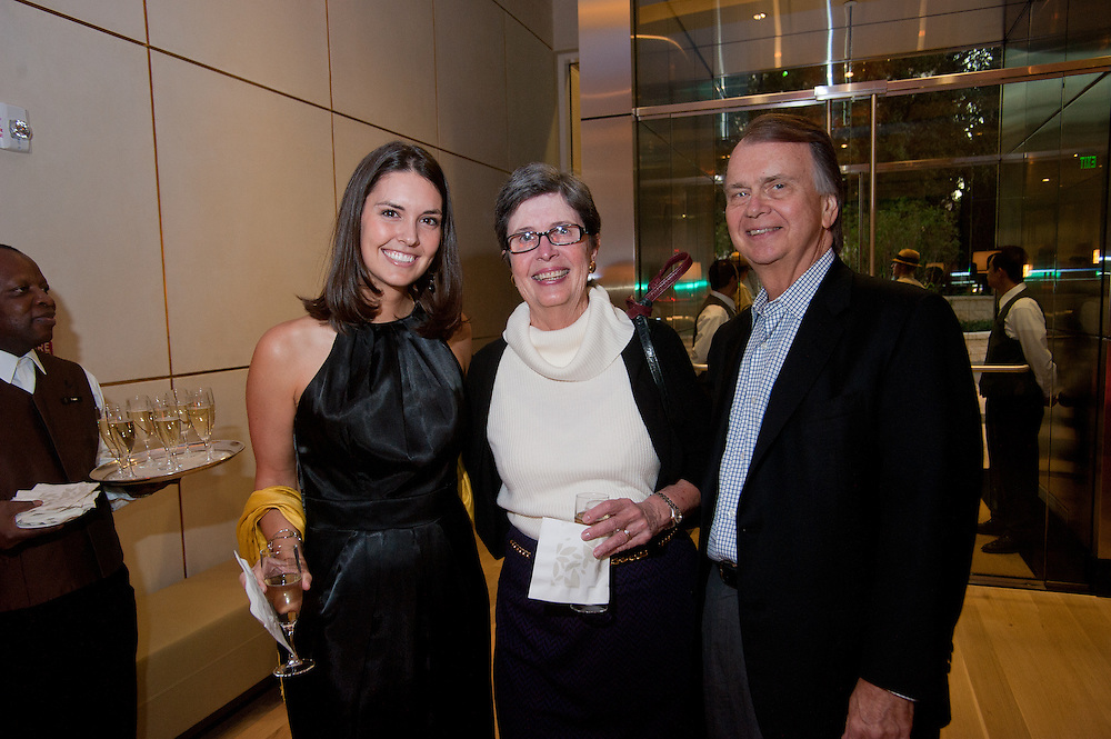 The Four Seasons Residences Austin hosted a party Friday night for current, future and prospective residents. Kerry Holden of the Four Seasons (L) weclomes Phillip and Sue Maxwell to the festivities.