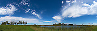 Midwest Summer Sky Panorama. Rest Area along Interstate 29 in South Dakota. Composite of 9 images taken with a Nikon D3x and 24 mm f/1.4G lens (ISO 100, 24 mm, f/11, 1/800 sec) using AutoPano Giga Pro. (GPS 45° 54' 29.13 N, 96° 51' 37.24 W).