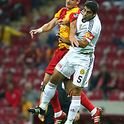 Eskisehirspor's Sezgin COSKUN (R) during their Turkish Super League soccer match Galatasaray between Eskisehirspor at the TT Arena at Seyrantepe in Istanbul Turkey on Monday, 26 September 2011. Photo by TURKPIX