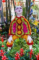 United States, Nevada, Las Vegas. Inside Bellagio's garden with an asiatic theme.