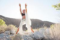 Gaia worship priestess woman in nature.