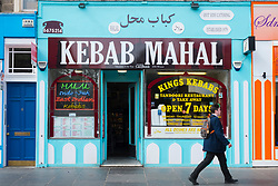 Middle Eastern kebab shop on Nicholson Square in central Edinburgh, Scotland, United Kingdom