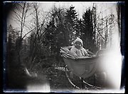 toddler in pram France 1921