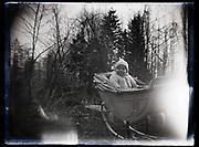 toddler in pram France 1921