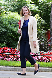 © Licensed to London News Pictures. 18/06/2019. London, UK. Secretary of State for Work and Pensions Amber Rudd arrives in Downing Street for the weekly Cabinet meeting. Photo credit: Dinendra Haria/LNP
