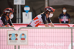 Lotto Soudal Ladies arrive for the team presentation at Strade Bianche - Elite Women 2020, a 136 km road race starting and finishing in Siena, Italy on August 1, 2020. Photo by Sean Robinson/velofocus.com