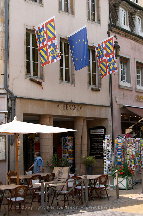 flags athenaeum book shop pl carnot beaune cote de beaune burgundy france