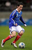 Fotball<br /> Frankrike v Slovenia U21<br /> Foto: DPPI/Digitalsport<br /> NORWAY ONLY<br /> <br /> FOOTBALL - UEFA EURO 2011 UNDER 21 - QUALIFYING ROUND - GROUP 8 - FRANCE U21 v SLOVENIA U21 - 17/11/2009 <br /> <br /> SEBASTIEN CORCHIA (FRA)