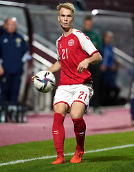 Denmark's Magnus Warming during the UEFA Under-21 Championship Qualifying Round Group I match at Tynecastle Park, Edinburgh. Picture date: Thursday, October 7, 2021.