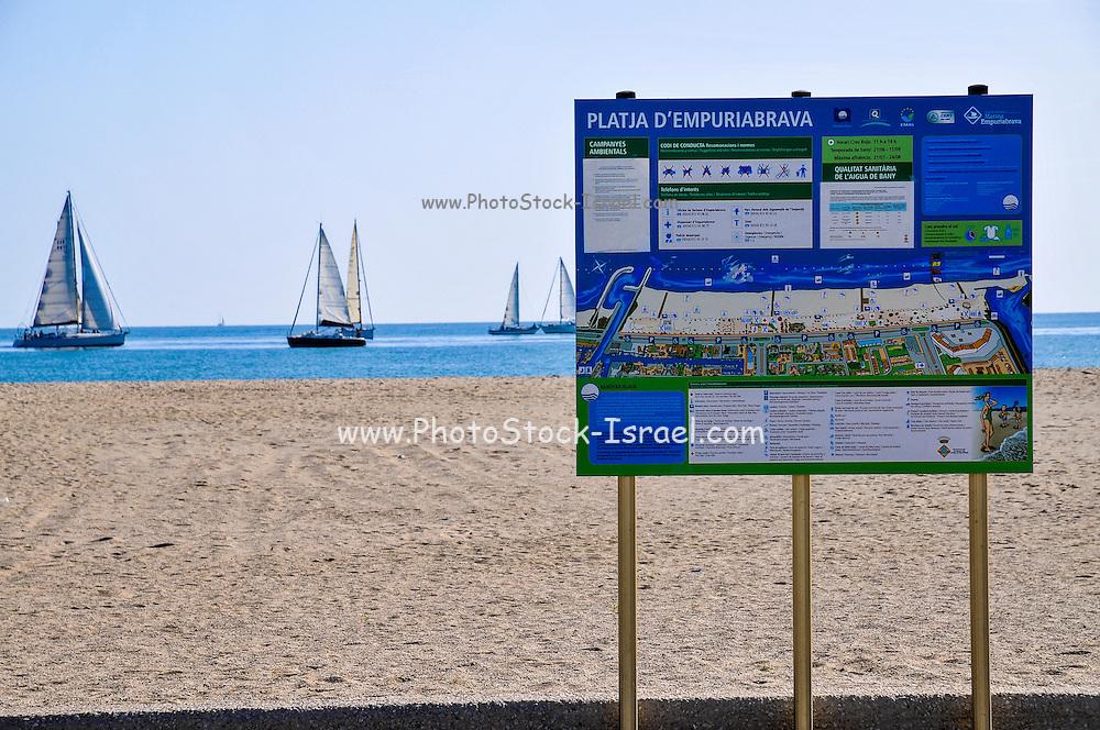 Empuriabrava Beach, Costa Brava, Spain