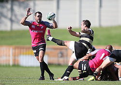 Marnus Hugo of Boland clears during the Currie Cup premier division match between the Boland Cavaliers and The Pumas held at Boland Stadium, Wellington, South Africa on the 2nd September 2016<br /> <br /> Photo by:   Shaun Roy/ Real Time Images