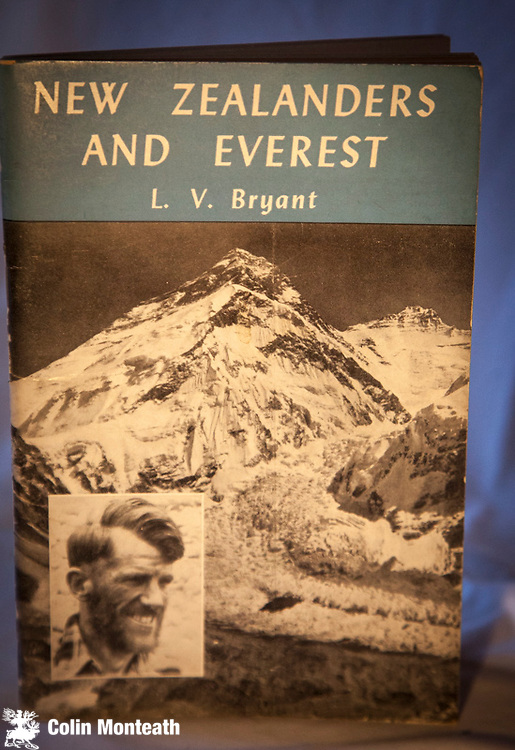 NEW ZEALANDERS & EVEREST - L.V. DAN BRYANT - Reed, Wellington, 1953 1st edn., card covers, 48 pages, B&W plates, map, Great history book on Kiwis involved on Everest expeditions through to 1953 British expedition. Bryant was a member of the Shipton / Tilman 1935 trip, effectively paving the way for the involvement of Ed Hillary in 1953 - $NZ55
