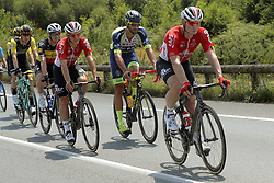 July 8, 2018 - La Roche-Sur-Yon, France - GREIPEL Andre (GER) of Lotto Soudal, VAN KEIRSBULCK Guillaume (BEL) of Wanty - Groupe Gobert, DE BUYST Jasper (BEL) of Lotto Soudal and LAMPAERT Yves (BEL) of Quick - Step Floors during stage 2 of the 105th edition of the 2018 Tour de France cycling race, a stage of 182.5 kms between Mouilleron - Saint-Germain and La Roche-Sur-Yon on July 08, 2018 in La Roche-Sur-Yon, France, 8/07/18 (Credit Image: © Panoramic via ZUMA Press)