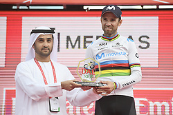 March 2, 2019 - Dubai, Emirati Arabi Uniti, Emirati Arabi Uniti - Foto LaPresse - Fabio Ferrari.02 Marzo 2019 Dubai (Emirati Arabi Uniti).Sport Ciclismo.UAE Tour 2019 - Tappa 7 - da Dubai Safari Park a City Walk - 145 km.Nella foto: VALVERDE Alejandro (ESP) MOVISTAR TEAM.Photo LaPresse - Fabio Ferrari.March 02, 2019 Dubai (United Arab Emirates) .Sport Cycling.UAE Tour 2019 - Stage 7 - From Dubai Safari Park to City Walk  - 90 miles..In the pic: VALVERDE Alejandro (ESP) MOVISTAR TEAM (Credit Image: © Fabio Ferrari/Lapresse via ZUMA Press)