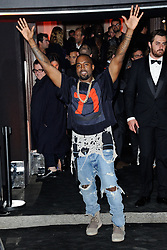 File photo dated October 03, 2015 of Kanye West attending the Vogue 95th anniversary party held in Paris, France. US rapper Kanye West took to Twitter over the weekend to announce he was running for president, with his declaration quickly going viral and prompting a flurry of speculation. His wife Kim Kardashian West and entrepreneur Elon Musk endorsed him. Photo by Aurore Marechal/ABACAPRESS.COM
