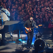 WASHINGTON, DC - December 14th, 2018 - Ben Lovett, Ted Dwane, Marcus Mumford and Winston Marshall of Mumford and Sons perform at Capital One Arena in Washington, D.C. as part of their Delta Tour. (Photo by Kyle Gustafson / For The Washington Post)