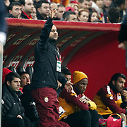 Galatasaray's Tebily Didier Yves Drogba (2ndR) during their Turkish Super League soccer match Galatasaray between Genclerbirligi at the TT Arena at Seyrantepe in Istanbul Turkey on Friday, 08 March 2013. Photo by Aykut AKICI/TURKPIX