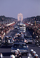The parade from the airport in New Delhi, as President Carter visits India on January 1, 1978<br /> Photo by Dennis Brack