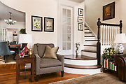 Living Room, Dining Room, and Stairs by Rodney Bedsole, an architecture photographer based in Nashville and New York City.
