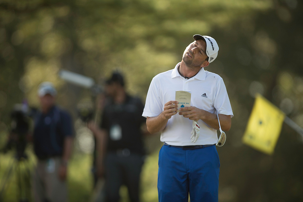 FARMINGDALE, NY - AUGUST 26:  Sergio Garcia of Spain during the final round of the 2012 Barclays at the Black Course at Bethpage State Park in Farmingale, New York on August 26, 2012. (Photograph ©2012 Darren Carroll) *** Local Caption *** Sergio Garcia