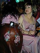 Ananda Lewis & Cindy Lauper.MTV 20th Birthday Bash (backstage).Hammerstein Ballroom.New York, NY.August 01, 2001.Photo by Celebrityvibe.com..