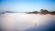 WUYISHAN, CHINA - MARCH 04: (CHINA OUT) <br /> <br /> Stunning images of fog covering Wuyi Mountain In Fujian<br /> <br /> Cloud partially covers the Wuyi Mountain in Wuyishan, Fujian Province of China. <br /> ©YI FAN/Exclusivepix