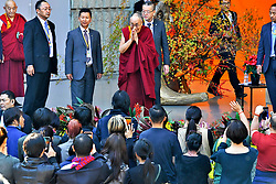 November 17, 2018 - Tokyo, Japan - Dalai Lama at the 'One - We Are One Family' event at the Hibiya Open Air Concert Hall. (Credit Image: © Future-Image via ZUMA Press)