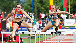 28-05-2011 ATLETIEK: HYPO MEETING 2011: GOTZIS<br /> Claudia Raht (GER) und Kaie Kand (EST), 100m Hurdles Women<br /> ***NETHERLANDS ONLY***<br /> ©2011-FotoHoogendoorn.nl/nph/P.Rinderer