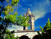 Bell tower Convent of the Immaculate Conception historic building, San Miguel de Allende, Mexico photo from 1990