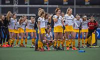 AMSTELVEEN -  spanning bij Den Bosch tijdens de shoot outs bij  de halve finale wedstrijd dames EURO HOCKEY LEAGUE (EHL),  Amsterdam-HC Den Bosch. (1-1) Den Bosch wint shoot outs en plaats zich voor de finale.  COPYRIGHT  KOEN SUYK