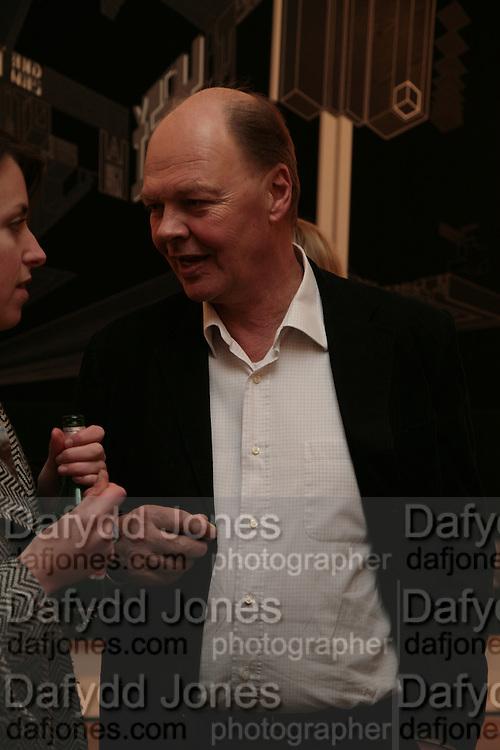 Nicholas Logsdail, Planit- Exhibition of work by Ian Munroe. Haunch of Venison. London. 1 March 2007.  -DO NOT ARCHIVE-© Copyright Photograph by Dafydd Jones. 248 Clapham Rd. London SW9 0PZ. Tel 0207 820 0771. www.dafjones.com.
