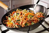 Stir Fry Noodles, pak choi, carrots & bean shoots