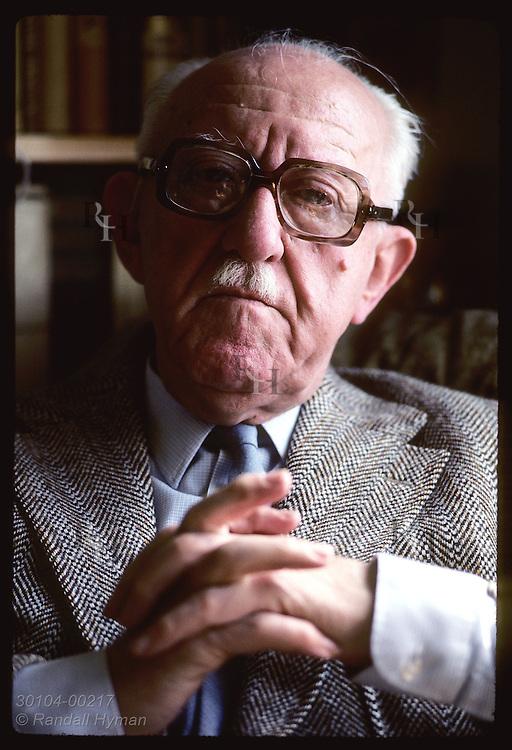 Head portrait of Halldor Laxness, Iceland's Nobel-Prize-winning novelist. Iceland