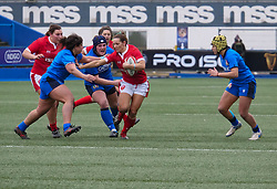 February 2, 2020, Cardiff, United Kingdom: Kerin Lake (Wales) seen in action during the women's Six Nations Rugby between wales and Italy at Cardiff Arms Park in Cardiff. (Credit Image: © Graham Glendinning/SOPA Images via ZUMA Wire)