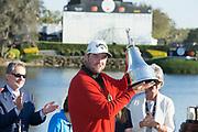 Marc Leishman (AUS) winner of the The Arnold Palmer Invitational Championship 2017, Bay Hill, Orlando,  Florida, USA. 19/03/2017.<br /> Picture: PLPA/ Mark Davison<br /> <br /> <br /> All photo usage must carry mandatory copyright credit (© PLPA | Mark Davison)