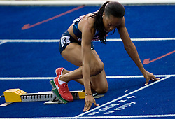 Sanya Richards of USA competes in the women's 400 Metres Semi-Final during day two of the 12th 2009 IAAF Athletics World Championships on August 16, 2009 in Berlin, Germany. (Photo by Vid Ponikvar / Sportida)