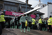 London. UNITED KINGDOM.  162nd BNY CUWBC. carry their boat out. The 71st Newton Women's Boat Race on the Championship Course, River Thames, Putney/Mortlake.  Sunday  27/03/2016    [Mandatory Credit. Intersport Images]<br /> <br /> Oxford University Women's Boat Club {OUWBC} vs Cambridge University Women's Boat Club {CUWBC} <br /> <br /> <br /> Cambridge, Crew Bow Ashton Brown, 2 Fiona Macklin, 3 Alice Jackson, 4 Thea Zabell, 5 Daphne Martschenko, 6 Myriam Goudet, 7 Hannah Roberts, Stroke Zara Goozee, Cox Rosemary Ostfeld.