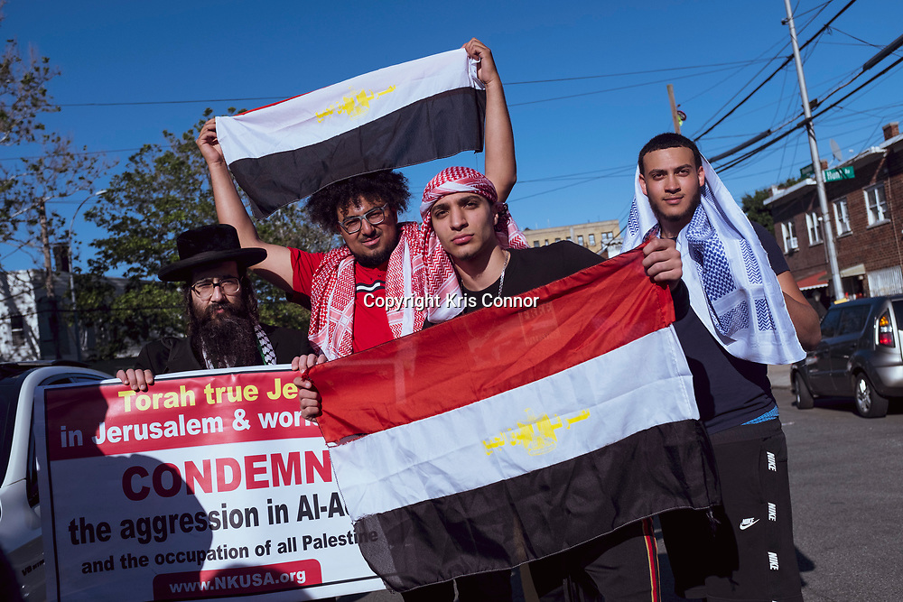 """Protestors attend the """"Palestine Solidarity Action,"""" protest in the Little Yemen,"""" neighborhood in The Bronx, New York on May 31st, 2021. Photo by Kris Connor"""