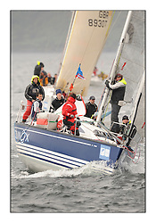 Brewin Dolphin Scottish Series 2010, Tarbert Loch Fyne - Yachting..A wet start for day 2 of the series with consistant winds...IRL1332 ,Equinox ,Ross McDonald ,0.987 ,Howth YC ,X332......
