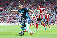 Middlesbrough forward, on loan from Valencia, Alvaro Negredo (10) sets up Middlesbrough 2nd goal  during the Premier League match between Sunderland and Middlesbrough at the Stadium Of Light, Sunderland, England on 21 August 2016. Photo by Simon Davies.