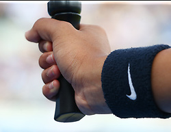 June 23, 2017 - London, United Kingdom - Ball Girl hand and Nike Band during Men's Singles Quarter Final match on the fourth day of the ATP Aegon Championships at the Queen's Club in west London on June 23, 2017  (Credit Image: © Kieran Galvin/NurPhoto via ZUMA Press)