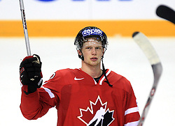 Eric Staal of Canada after  ice-hockey game Canada vs Germany in Qualifying Round Group F, at IIHF WC 2008 in Halifax,  on May 10, 2008 in Metro Center, Halifax, Nova Scotia,Canada. Canada won 11:1. (Photo by Vid Ponikvar / Sportal Images)