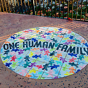 One Human Family Road Sign On Key West, Florida
